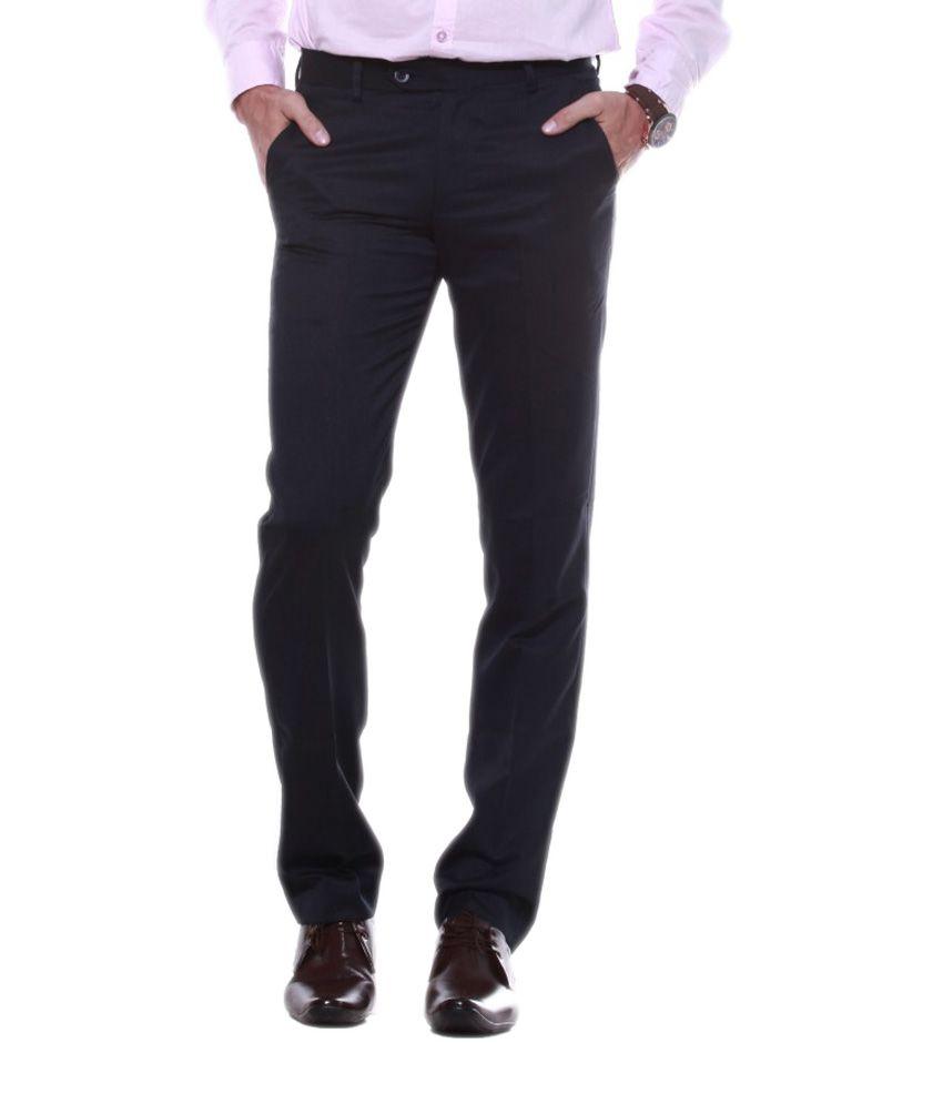 Sangam Apparels Stunning Slim Fit Men's Navy Trouser