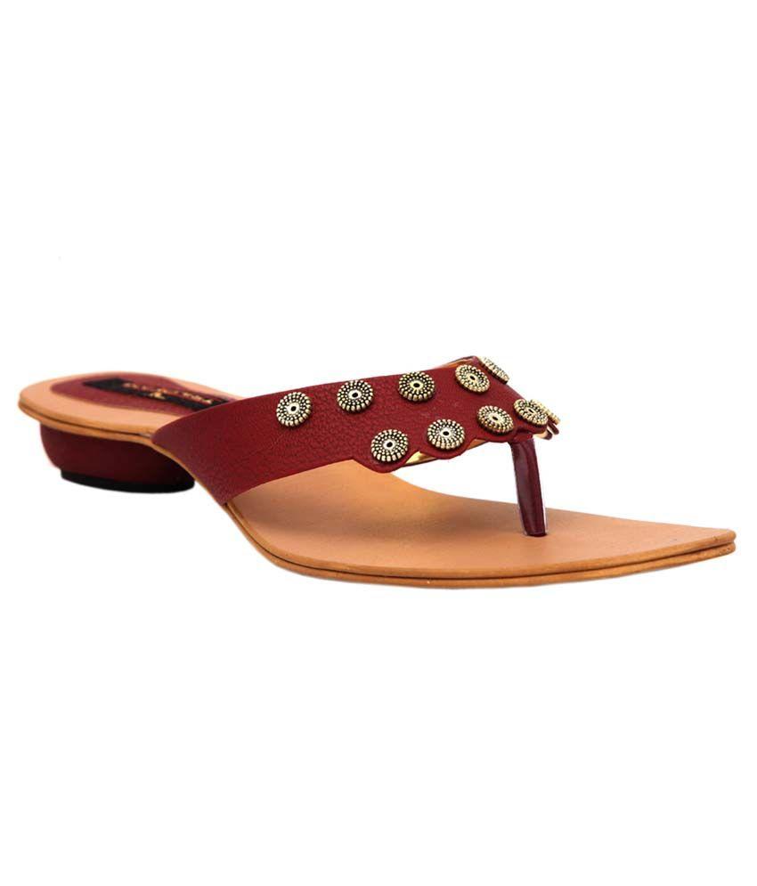 Trilokani Cherry Fancy Slipper For Women