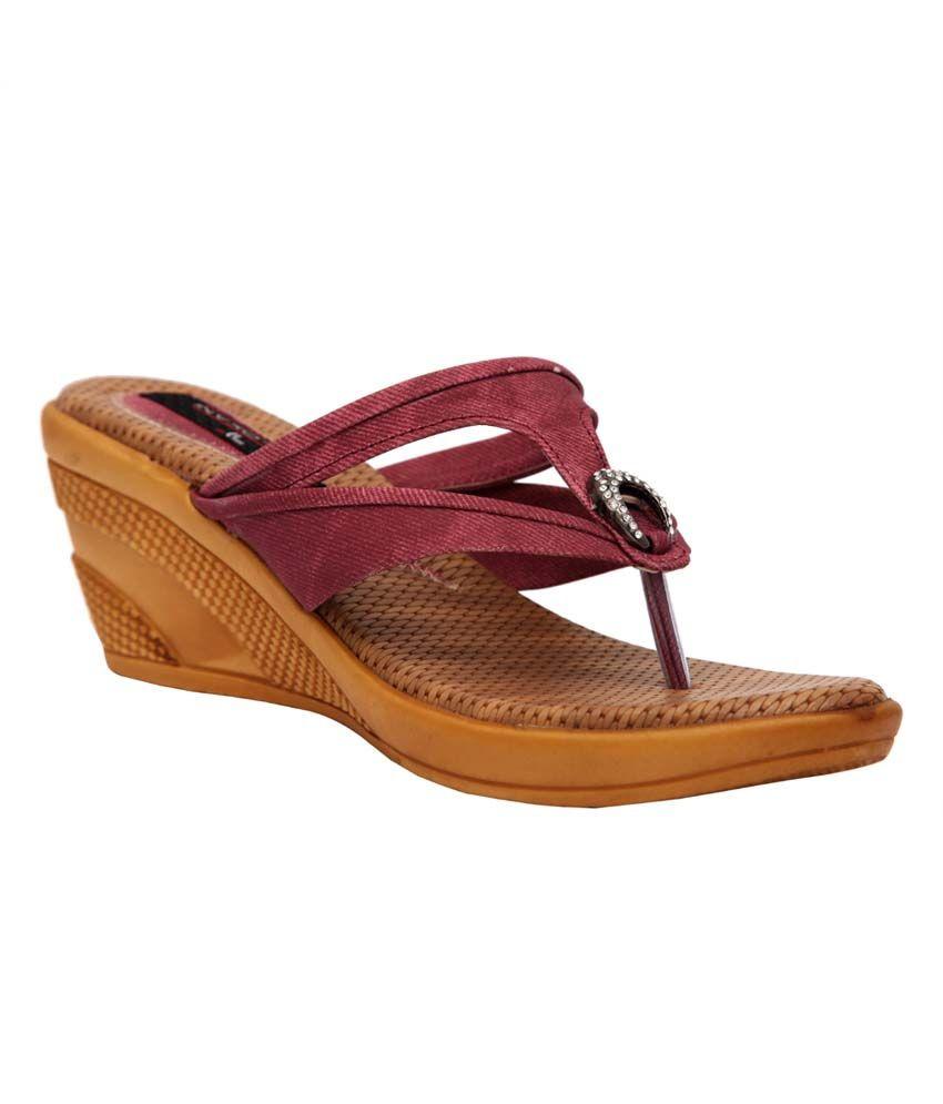 Trilokani Pink Synthetic Comfertable Women's Slipper
