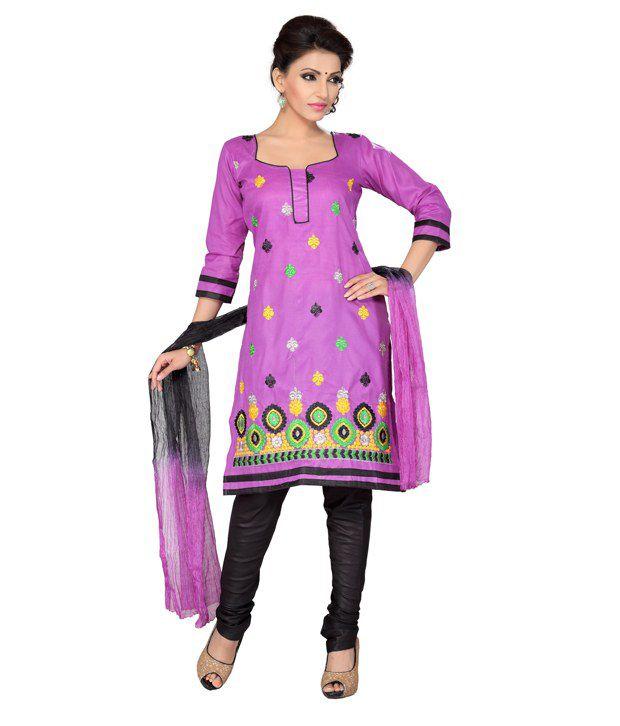 Aisha Multi Color Cotton Unstitched Dress Material