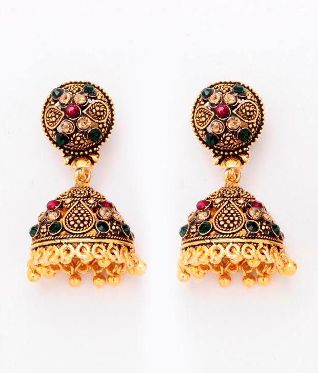 Antique Gold Pretty Jhumki by GoldNera