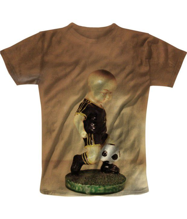Freecultur Express Brown Cotton Blend T-shirt