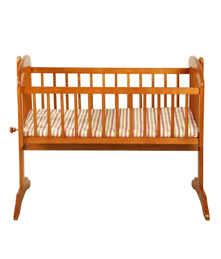 mom me brown wooden cradle buy mom me brown wooden cradle at