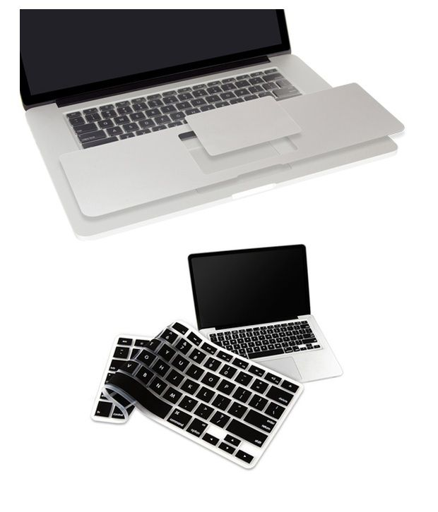 PINDIA Apple Macbook Pro 13 13.3 Inch Mc724Hn/A & Mc724LL/A Palm Guard Combo Black Keyboard Cover