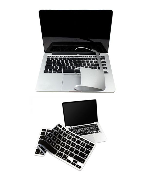 PINDIA Apple Macbook Pro 13 13.3 Inch Mc724Hn/A & Mc724LL/A Full Palm Guard Combo Black Keyboard Cover