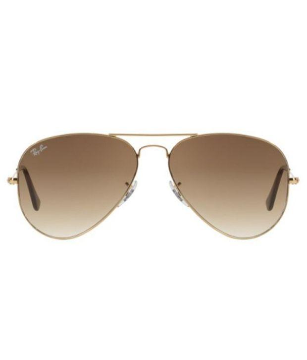 ray ban rb3025  Ray-Ban Brown Aviator Sunglasses (RB3025 001/51 58-14) - Buy Ray ...