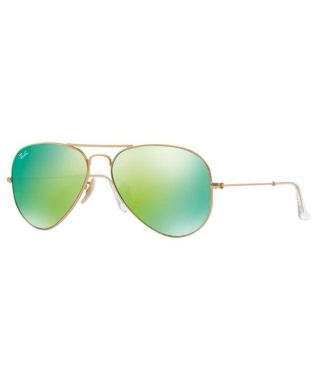 c6c0948a3 Ray-Ban RB3025 112/19 Size: 55 ORIGINAL AVIATOR Gold / Green Sunglasses ...