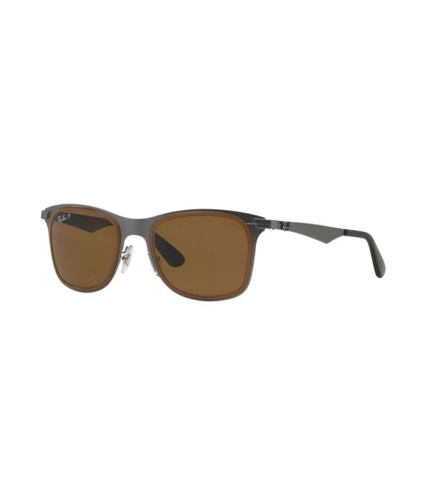 5bbea3ca30cee Ray-Ban RB3521M 029 83 Square Gunmetal   Brown Sunglasses - Buy Ray-Ban  RB3521M 029 83 Square Gunmetal   Brown Sunglasses Online at Low Price -  Snapdeal
