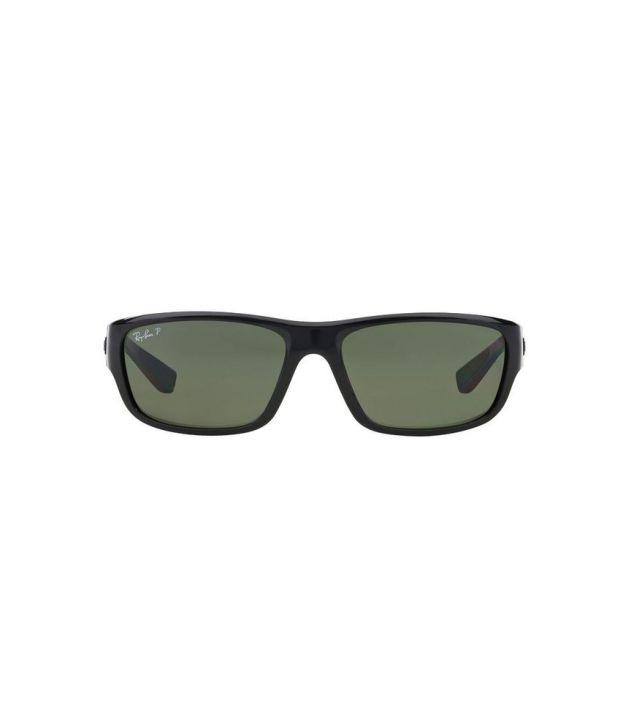 ff56b35093 Ray-Ban RB4196 601 9A Rectangle Black   Green Sunglasses - Buy Ray ...