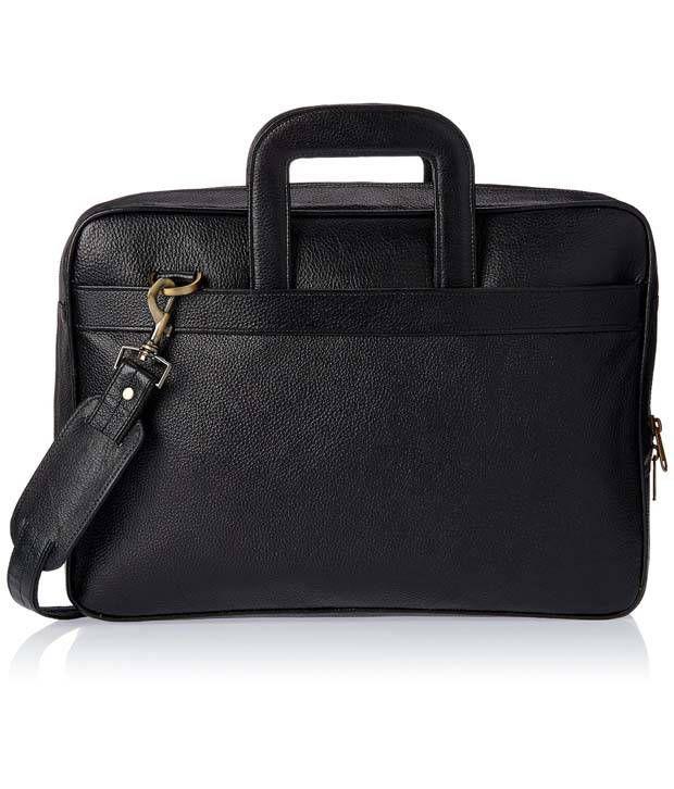 WalletsnBags Classy Black Portfolio Bag