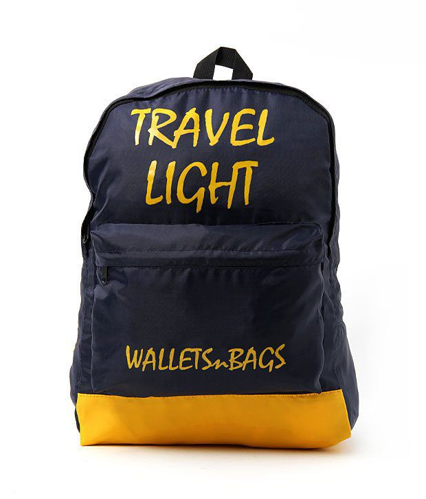 WalletsnBags Yellow & Black Backpack