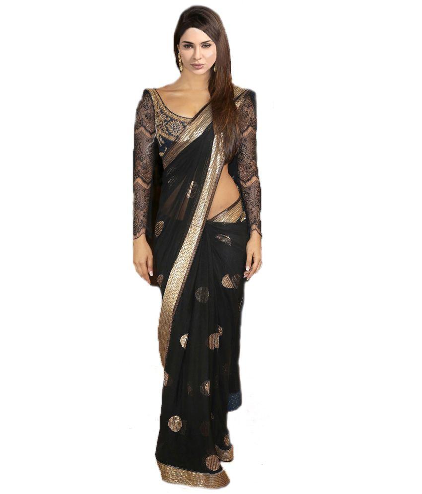 Anshika Fashion Multi Color Net Saree - Buy Anshika ...