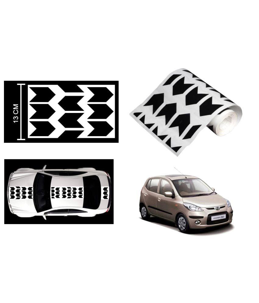 Speedwav car racing stripe graphic sticker black arrow for hyundai i10 buy speedwav car racing stripe graphic sticker black arrow for hyundai i10 online at