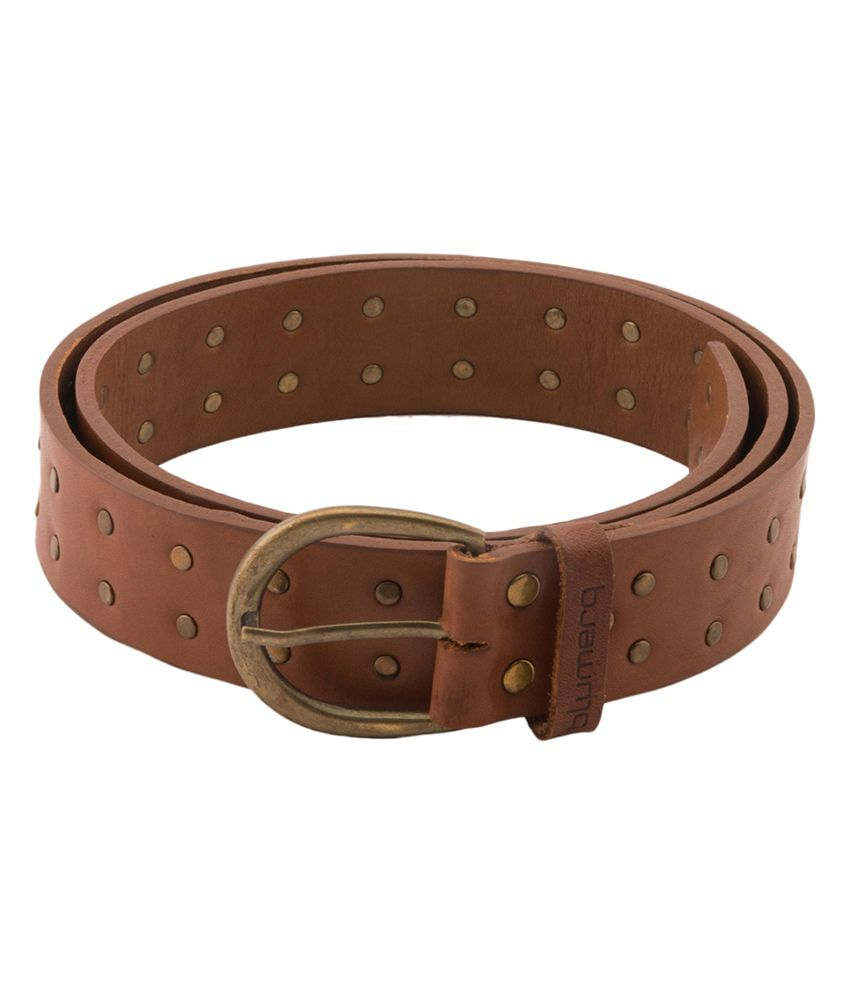 Blumerq Casual Dk Tan Brown Leather Belt