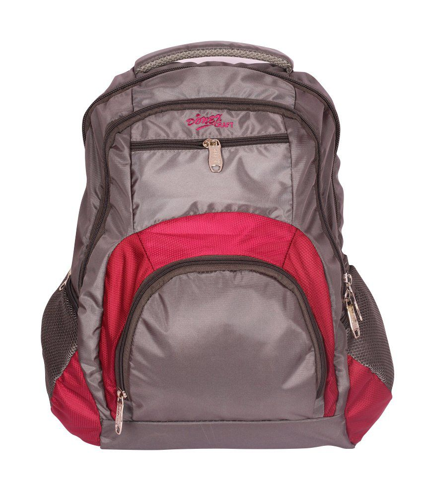 Donex Fausto Grey And Purple Polyester Laptop Bag