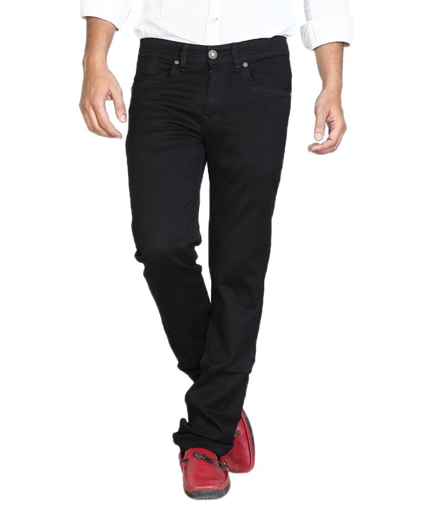 Urban Navy Trendy Black Silky Stretch Jeans