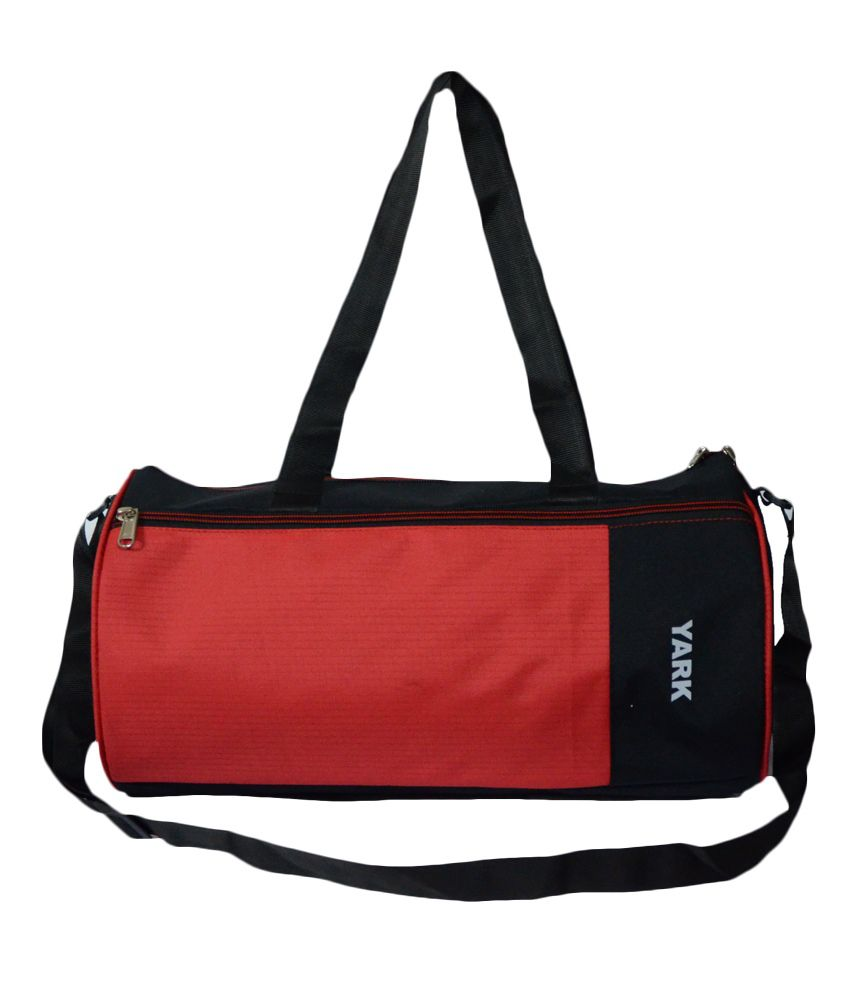 Yark Red Polyester gear Gym Bag
