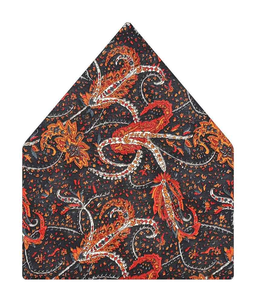 Tiekart Silk Black Pocket Square