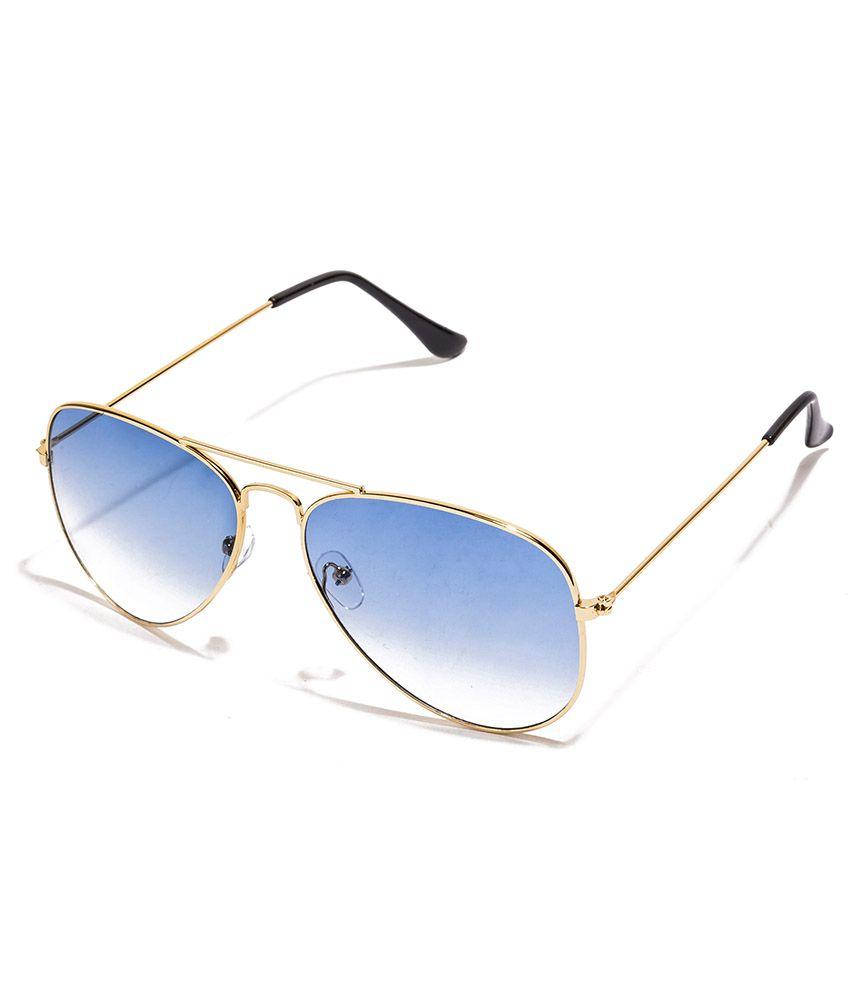 5d0ed81a3802 Vespl Stylish Golden Frame Sky Blue Aviator Sunglass-v-1205 - Buy Vespl  Stylish Golden Frame Sky Blue Aviator Sunglass-v-1205 Online at Low Price -  Snapdeal