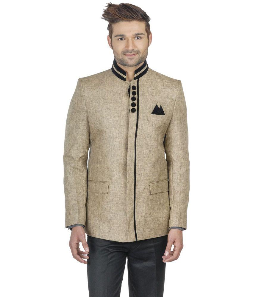 Wintage Beige Rayon Partywear Blazer