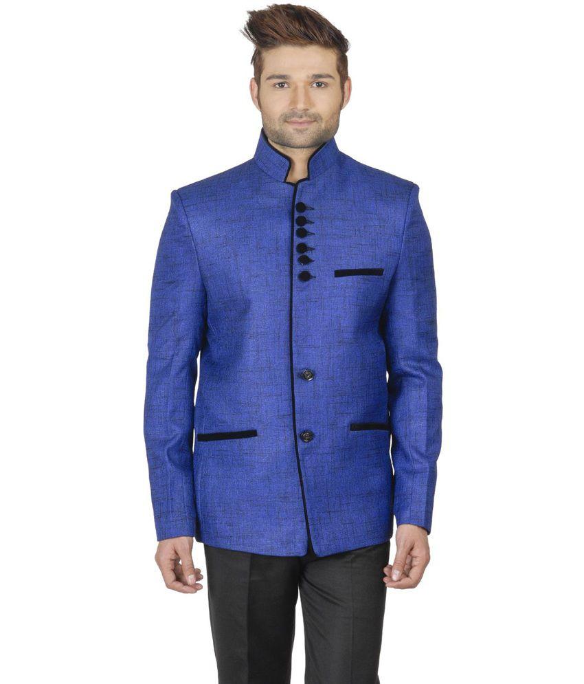 Wintage Blue Rayon Partywear Blazer