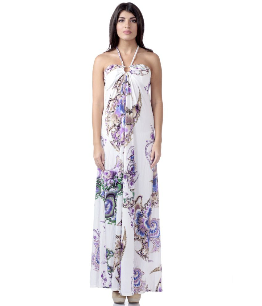d435c48cf7f4 Buy Heart 2 Heart White Angel Halter Neck Beach Dresses Online at Best  Prices in India - Snapdeal