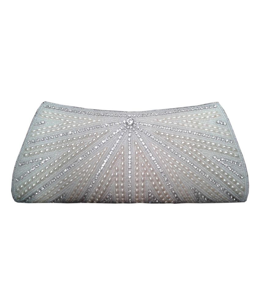 Royal White Exclusive Clutch