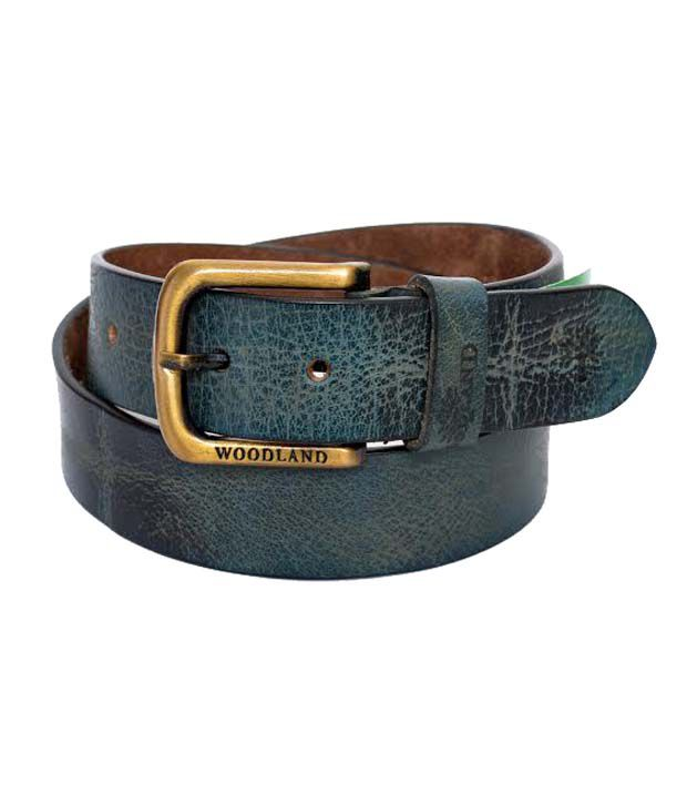 Woodland Multicolor Leather Belt For Men