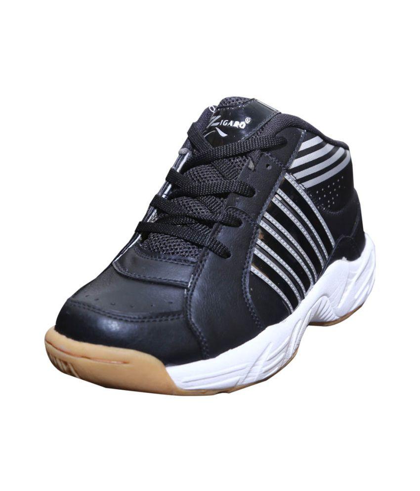 zigaro black badminton sport shoes buy zigaro black