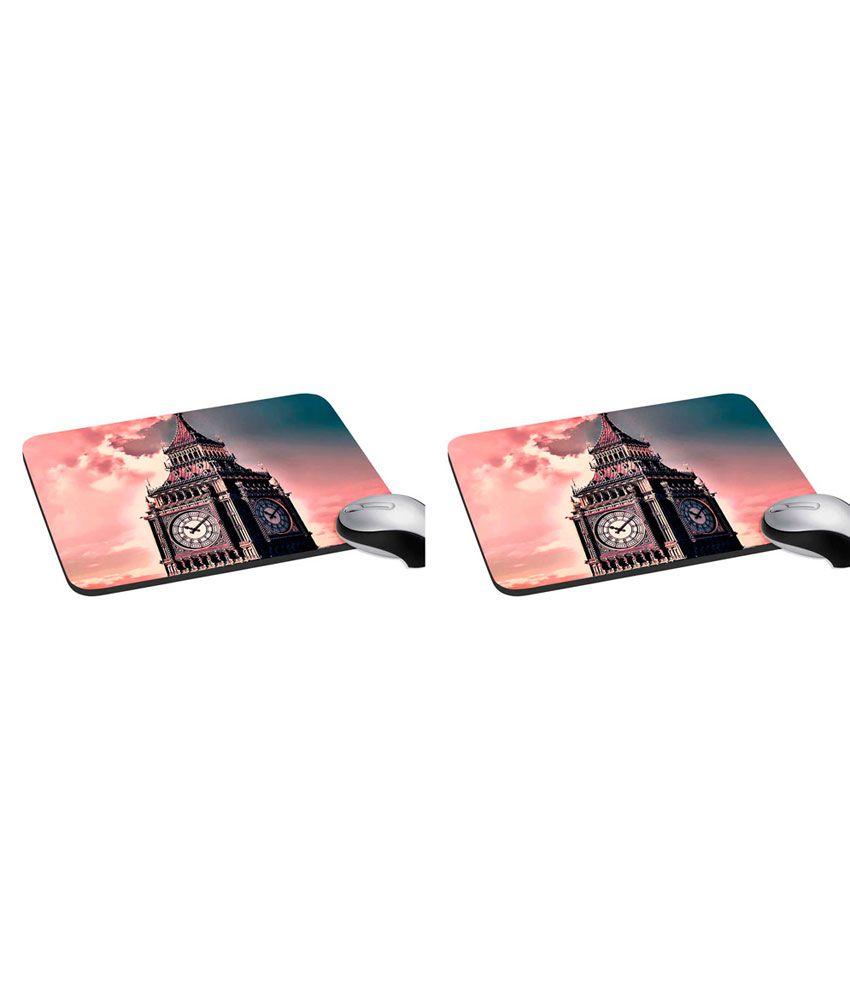 Mesleep London Big Ben Digitally Printed Mouse Pad - Pack Of 2