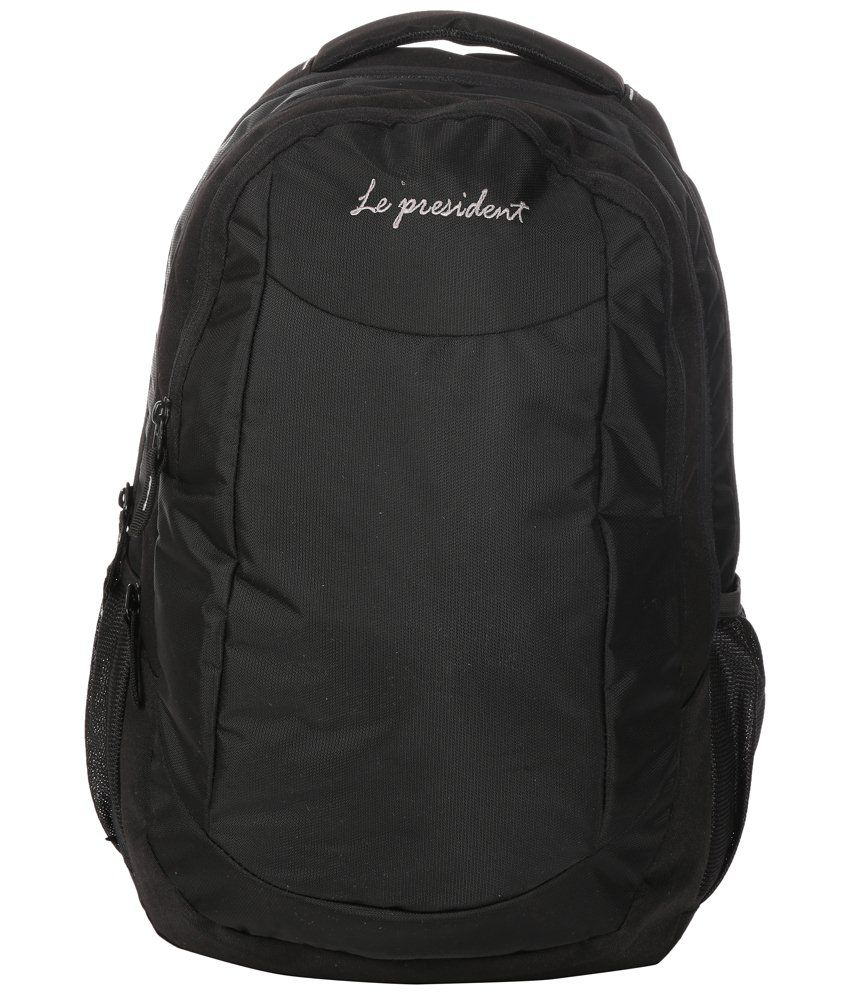 President Pride 35 liters Black Laptop Backpack