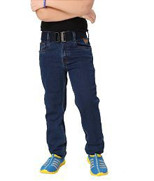 Heroes And Hunks Blue Denim Straight Fit Jeans