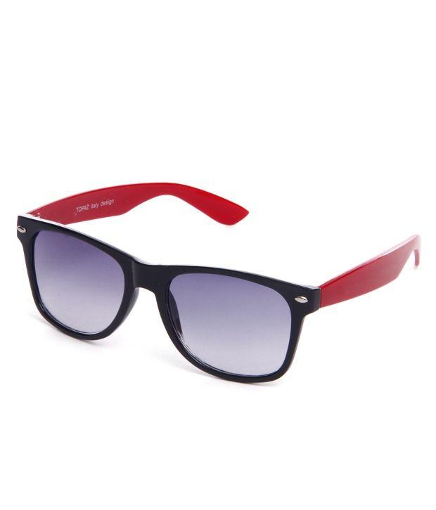 Hills Boro HS-045-RED-WFR Red/Mauve Wayfarer Sunglasses