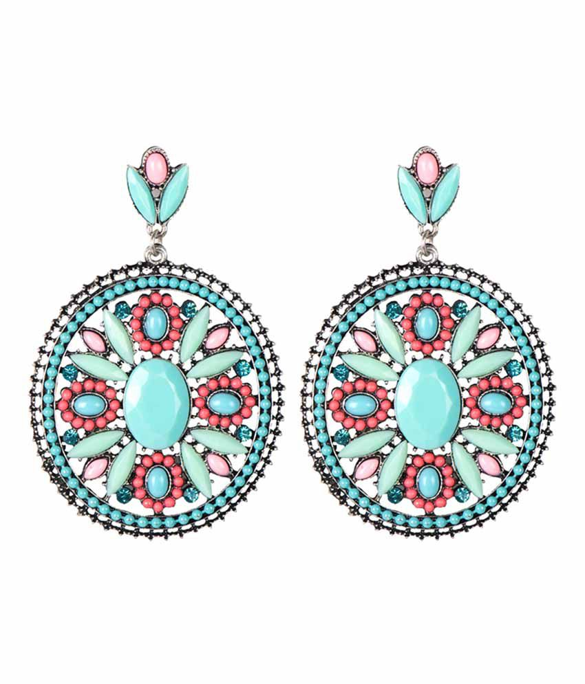 Taj Pearl Designer Multicolour Earrings
