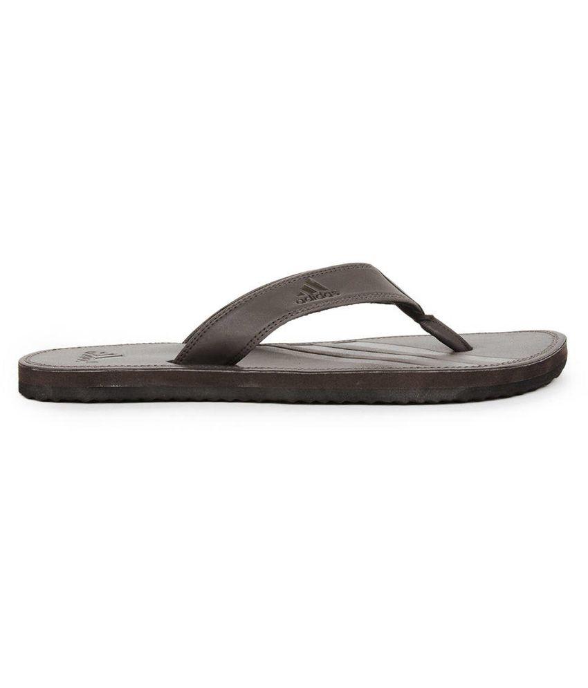 6eefcd10b Adidas Brown Casual Brizo Flip-flops Price in India- Buy Adidas ...