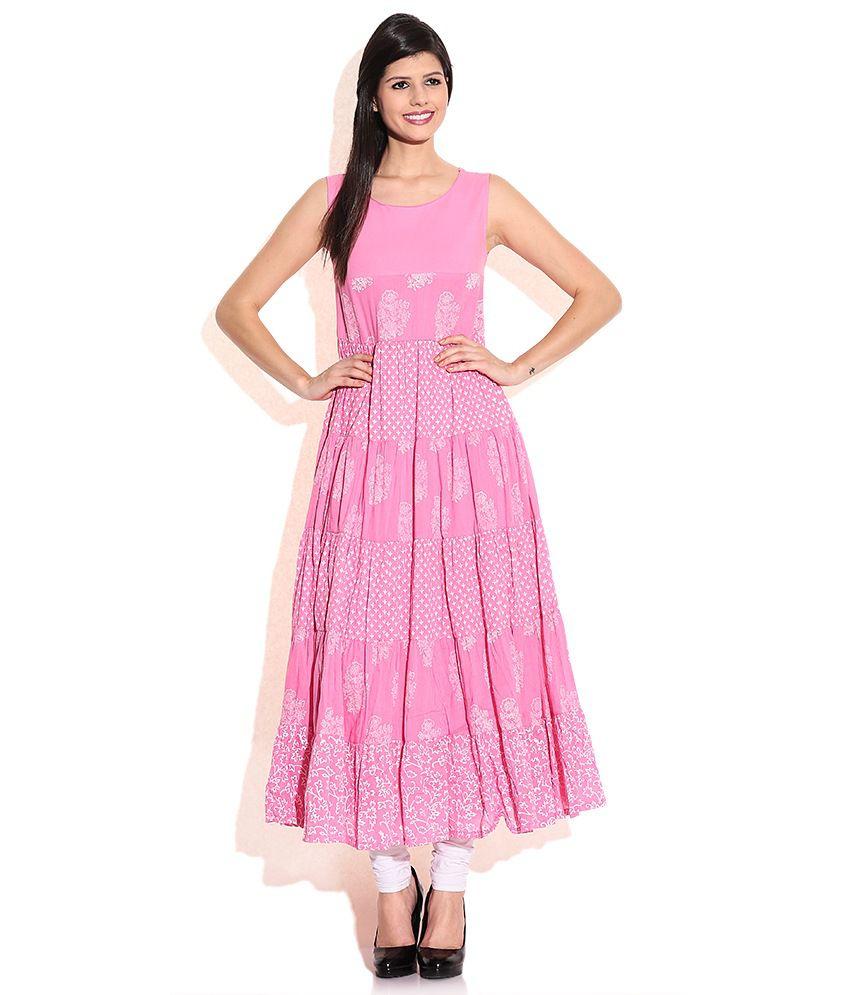 Biba Pink Cotton Dresses