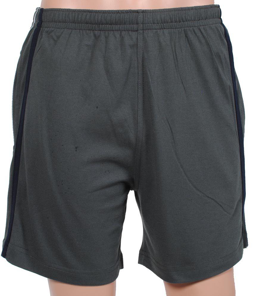 Gazelle Gray Cotton Lounge Shorts For Men