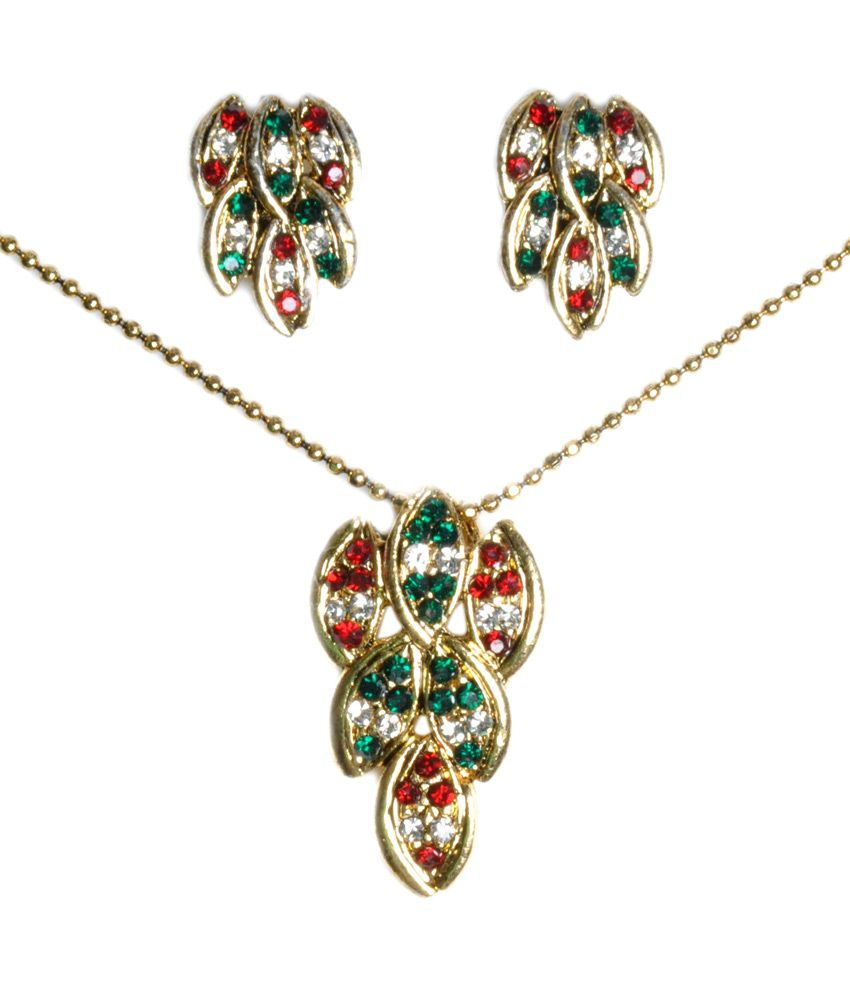 Gen Y Trends Multicolour Contemporary Designer Gold Plated Necklace Set