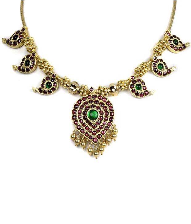 Silverwala 925 Silver Temple Jewellery Necklace