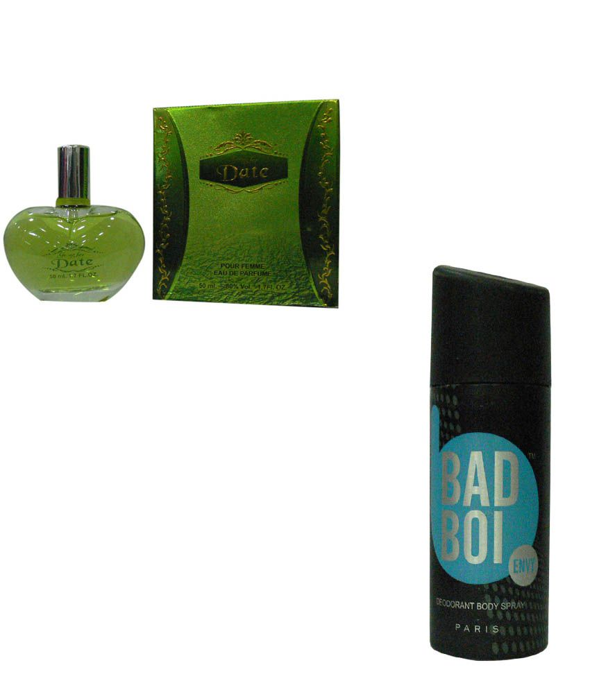 Eternal Combo Of Date Perfume For Women And Bad Boi Envy Deo Spray For Men