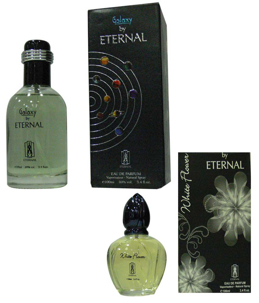 Eternal Combo Of Galaxy Perfume For Men And White Flower Perfume For