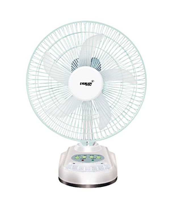 Eveready 10 Inches Rf06 Rechargeable Table Fan White Price