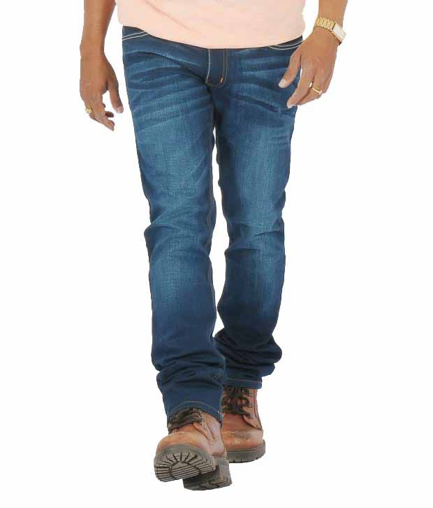 Levis Strauss Blue Cotton Blend Jeans