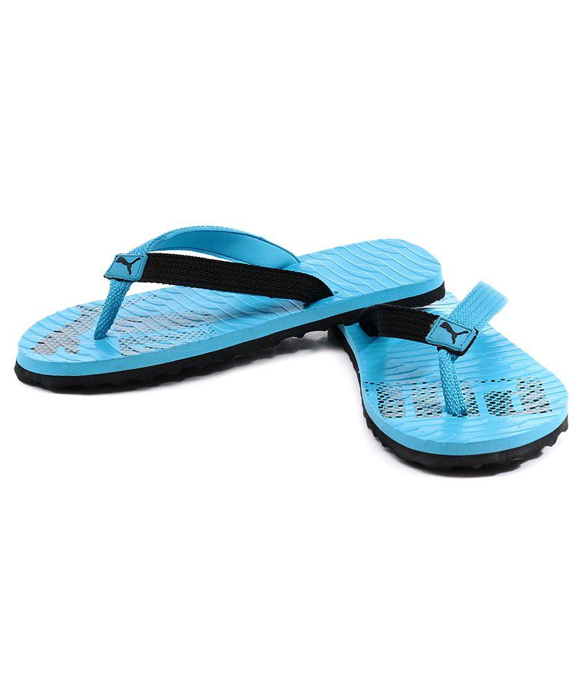 Puma Miami 6 Dp Ocean Blue   Black Flip Flops Price in India- Buy ... 206f26ea8