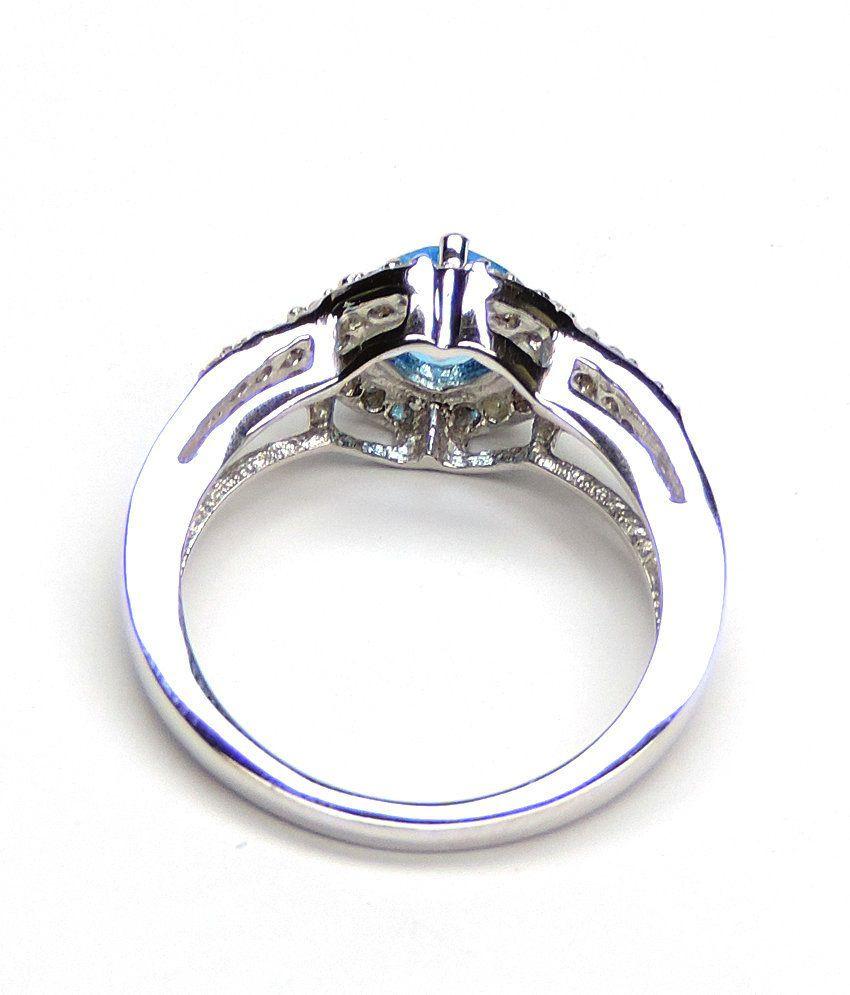 Silvantra Topaz 92.5 Sterling Silver Ring