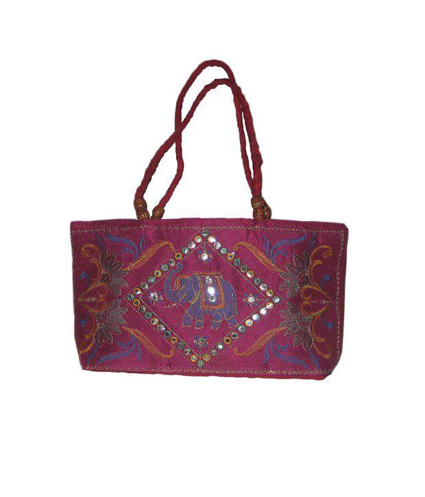 Vedic Deals Pink Canvas Cloth Sling Bag