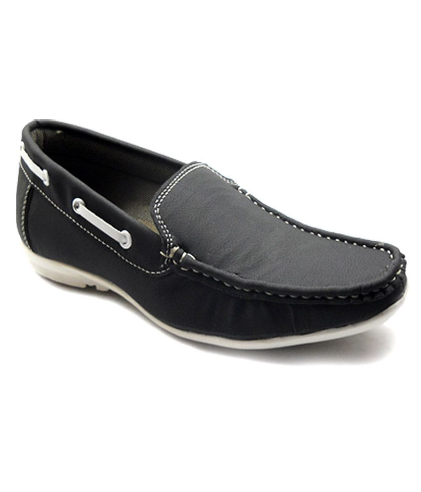 c1a5cf35a24 Anr Black Loafer Shoes - Buy Anr Black Loafer Shoes Online at Best Prices  in India on Snapdeal