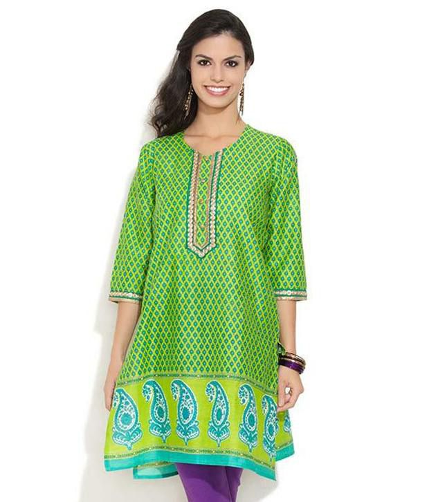 Diya Lemon Paisley Beauty Kurta
