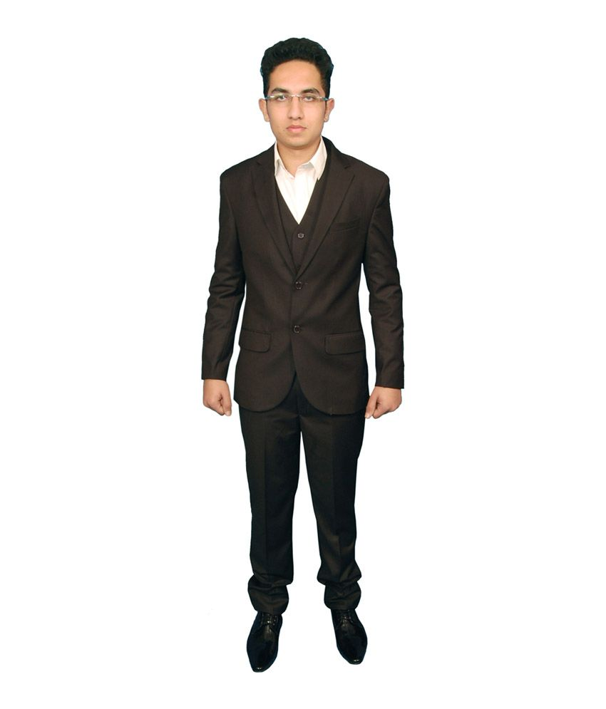 Fashion N Style Solid Poly Blend Brown Formal Suit For Men Buy Fashion N Style Solid Poly