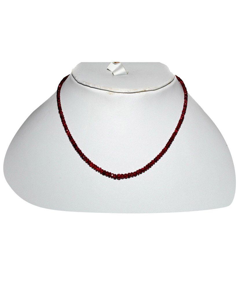 Kcj Colour Spark Ruby Precious Gems Necklace
